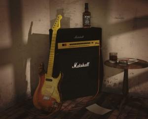 gitarr med slutsteg